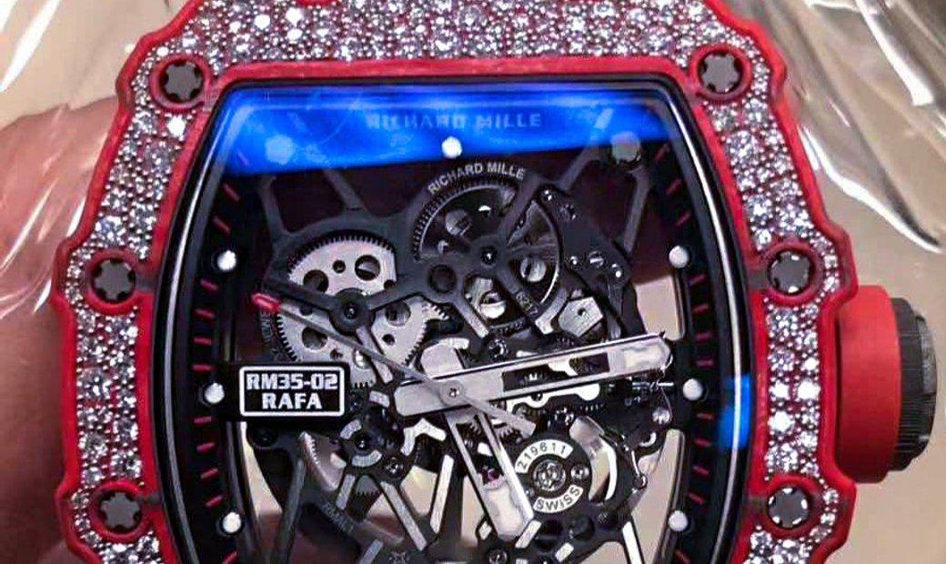 Richard Mille RM 35-02 Red Quartz-TPT Diamonds Watch