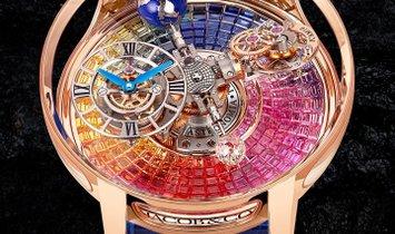 Jacob & Co. 捷克豹 [NEW] Astronomia Tourbillon Baguette Rainbow AT100.40.AC.UR.A (Retail: HK$8,400,000)