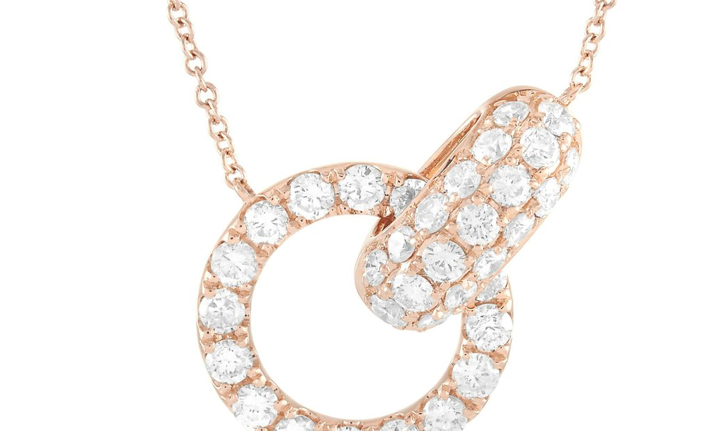 LB Exclusive LB Exclusive 18K Rose Gold 1.00 ct Diamond Pendant Necklace