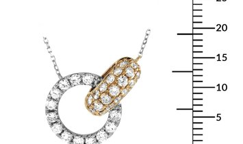 LB Exclusive LB Exclusive 18K White and Yellow Gold 1.00 ct Diamond Pendant Necklace