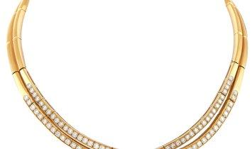 Van Cleef & Arpels Van Cleef & Arpels 18K Yellow Gold ~6.00 ct Diamond Choker Necklace