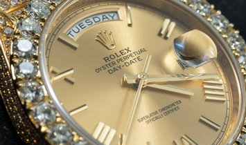 Rolex Day-Date Bespoke 228238 Diamond Bezel and Bracelet in 18 Ct Yellow Gold