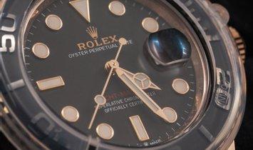 Rolex Yacht-Master 40 126655-0002 Everose Gold Black Ceramic Bezel Black Dial