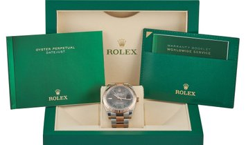 Rolex Rolex Oyster Perpetual Datejust Wimbledon Jubilee Two-Tone 41 mm Oystersteel and Everose Roles