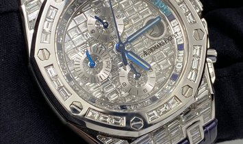 Bespoke Audemars Piguet Royal Oak Offshore 26470 Diamond and Sapphire Set in White Gold
