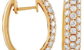 LB Exclusive LB Exclusive 14K Yellow Gold 1.70 ct Diamond Hoop Earrings