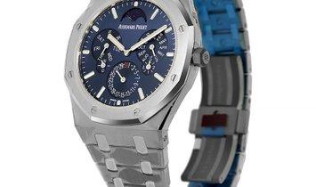 Audemars Piguet Royal Oak Titanium Ultra-Thin Blue Index Dial Watch 26586IP.OO.1240IP.01