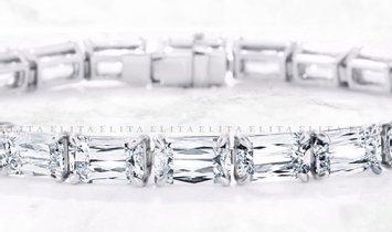 16.00 CT DIAMOND ETERNITY BRACELET IN PLATINUM