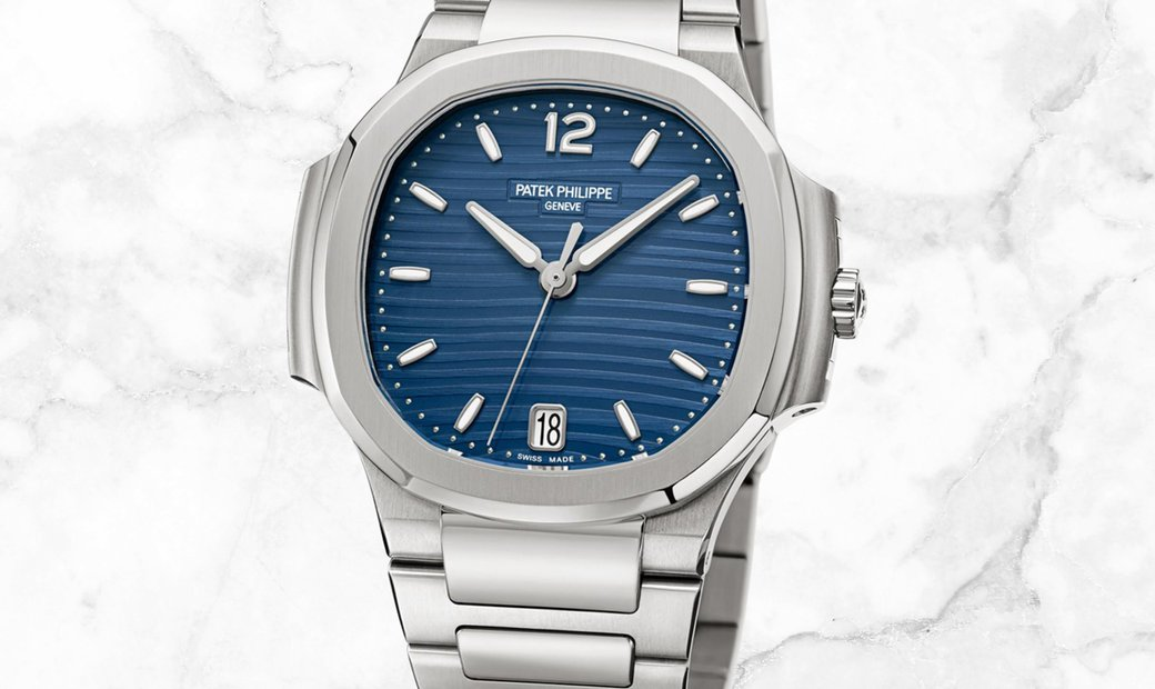 Patek Philippe Nautilus 7118/1A-001 Ladies Automatic Stainless Steel With Blue Opaline Dial