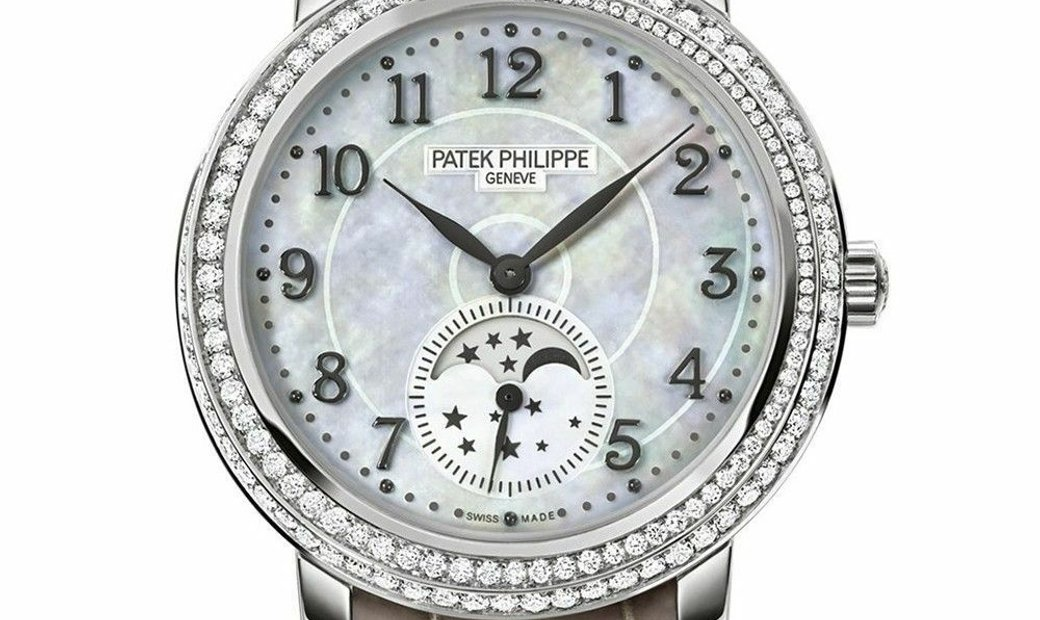 PATEK PHILIPPE COMPLICATIONS DIAMOND RIBBON JOAILLERIE MOON PHASES 4968G-010