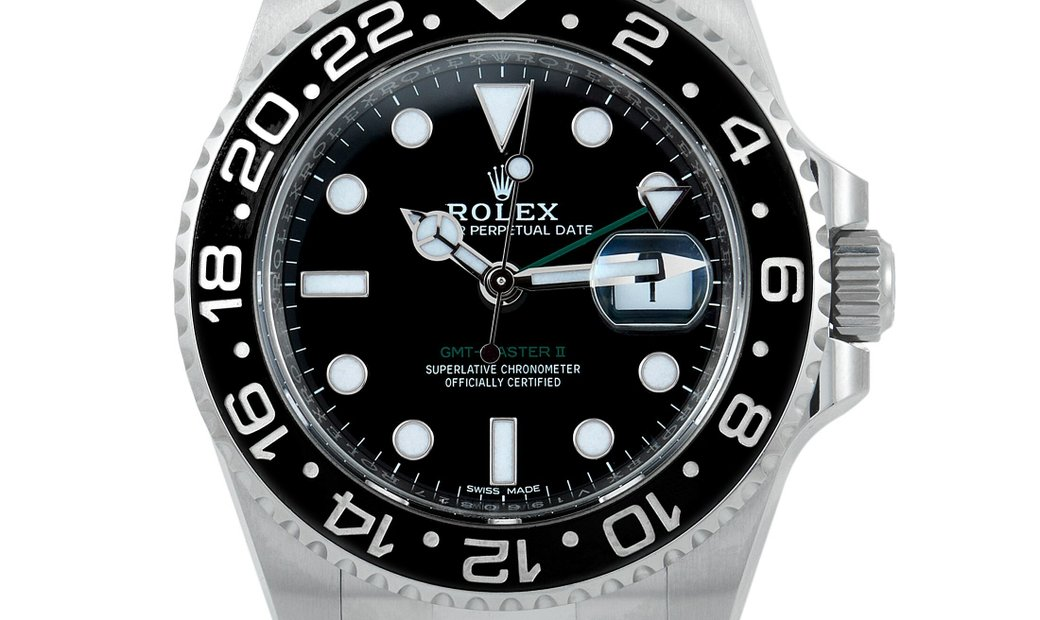 Rolex Rolex Oyster Perpetual GMT-Master II 40mm Oystersteel Watch with Bi-Directional Ceramic Bezel