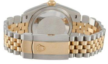 Rolex Rolex Datejust 36mm Oystersteel and Yellow Rolesor Diamond Jubilee Dial Watch 126233