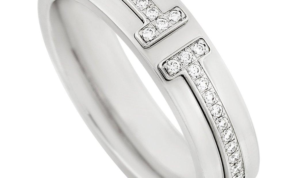 Tiffany & Co. Tiffany & Co.18K White Gold Diamond Wedding Band