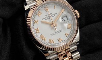 Rolex Datejust 36 126231-0015 Oystersteel and Everose Gold White Dial Jubilee Bracelet