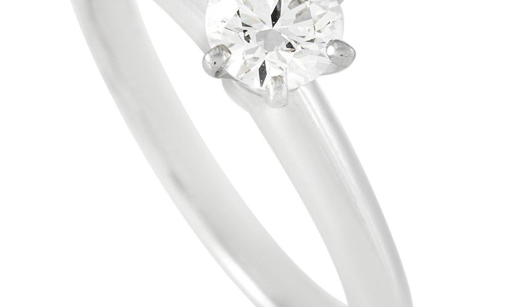 Tiffany & Co. Tiffany & Co. Platinum Solitaire 0.34 ct Diamond Engagement Ring