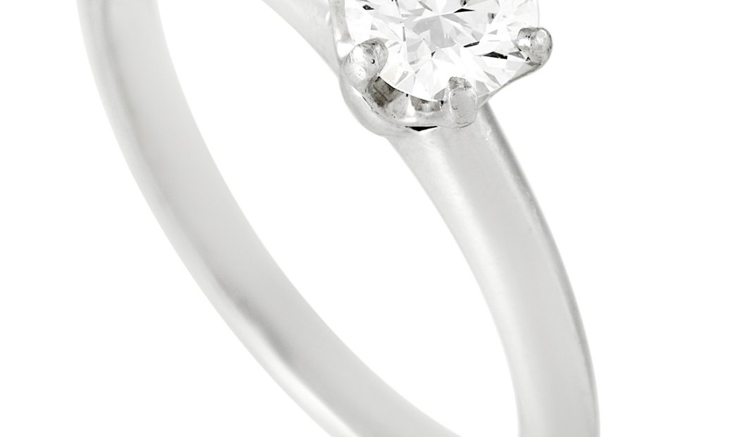 Tiffany & Co. Tiffany & Co. Platinum Solitaire 0.43 ct Diamond Engagement Ring