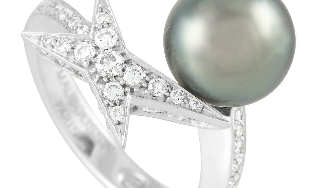 Mauboussin Mauboussin 18K White Gold Diamond and Pearl Ring