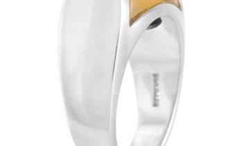 Bvlgari Bvlgari Tronchetto 18K White Gold Citrine Dome Ring