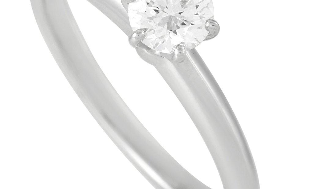 Tiffany & Co. Tiffany & Co. Platinum Solitaire 0.40 ct Diamond Engagement Ring
