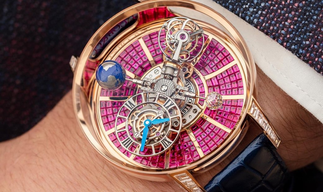 Jacob & Co. 捷克豹 Astronomia Tourbillon Baguette Ruby AT800.40.BD.BR.A (Retail:HK$8,800,000)