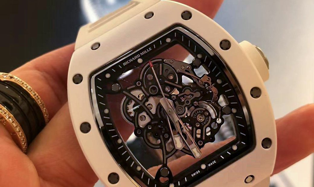 Richard Mille [NEW] RM 055 Bubba Watson White Ceramic Watch