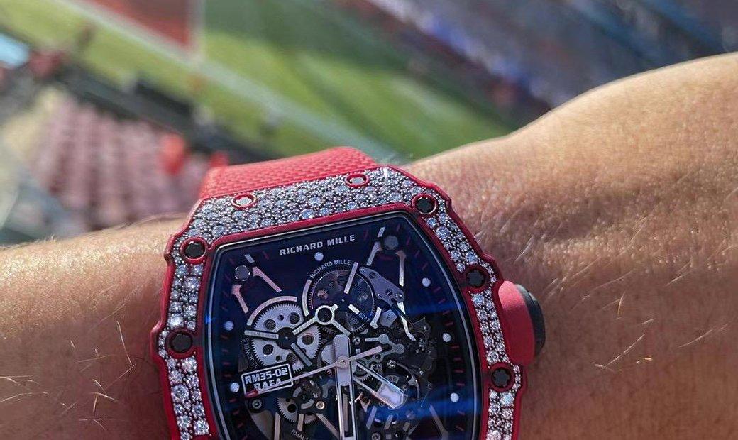 Richard Mille [NEW] RM 35-02 Red Quartz-TPT Snow Diamonds Watch
