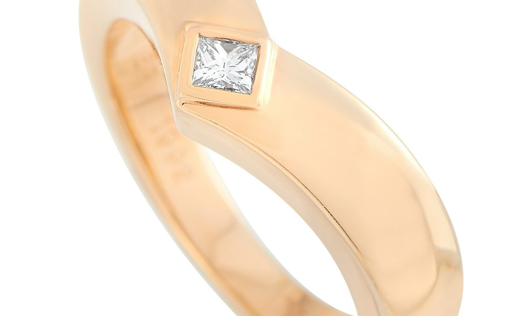 Cartier Cartier 18K Rose Gold 0.10 ct Diamond Ring
