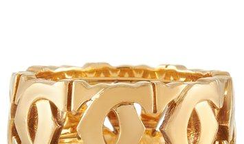 Cartier Cartier 18K Yellow Gold Double C Ring
