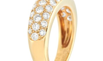 Cartier Cartier 18K Yellow Gold 1.00 ct Diamond and Emerald Cabochon Ring