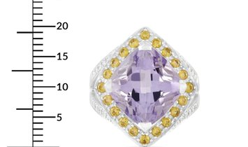 Mauboussin Mauboussin 18K White Gold Amethyst, Citrine, and Diamond Ring