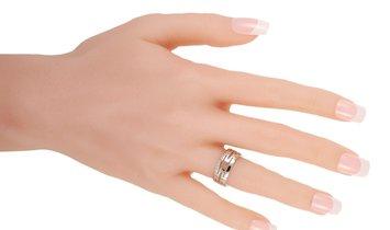 Bvlgari Bvlgari Parentesi 18K White Gold Open-Work Ring