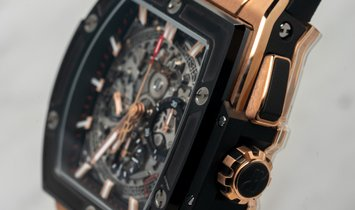 Hublot Spirit of Big Bang 641.OM.0183.LR Skeleton in King Gold and Ceramic