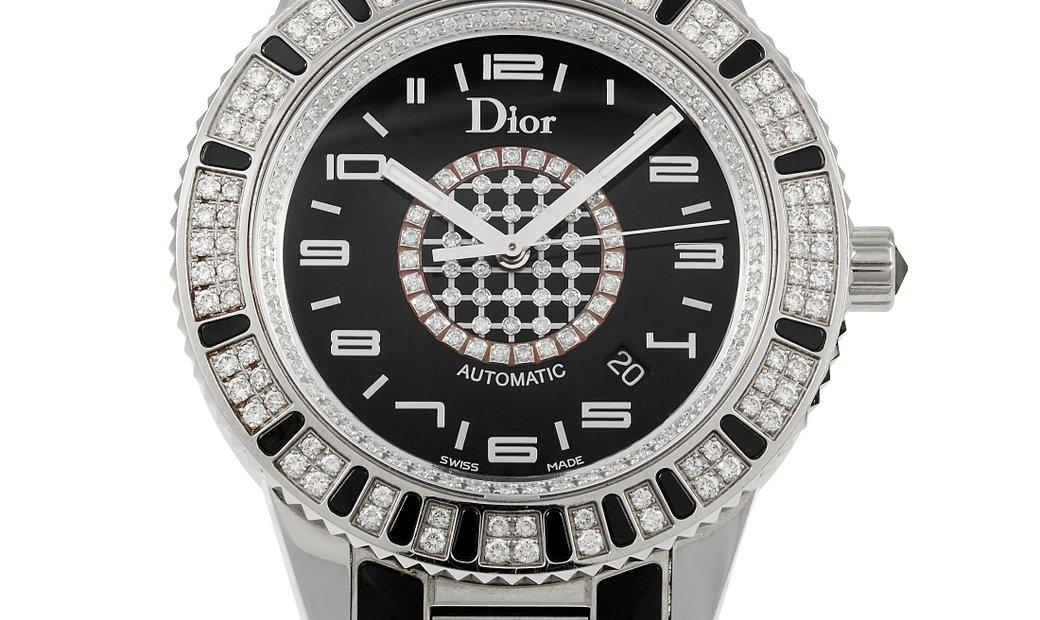 Dior Dior Christal Stainless Steel Diamond 42mm Watch CD115511