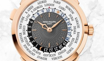 Patek Philippe 5230R-012 Complications World Time Rose Gold Charcoal Gray Lacquered Dial