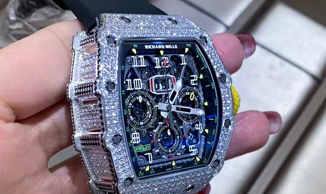 Richard Mille [NEW] RM 11-03 White Gold Full Set Diamonds Watch