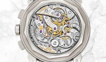 Patek Philippe Grand Complications 5271P-001  Perpetual Calendar Chronograph Diamond Set Bezel