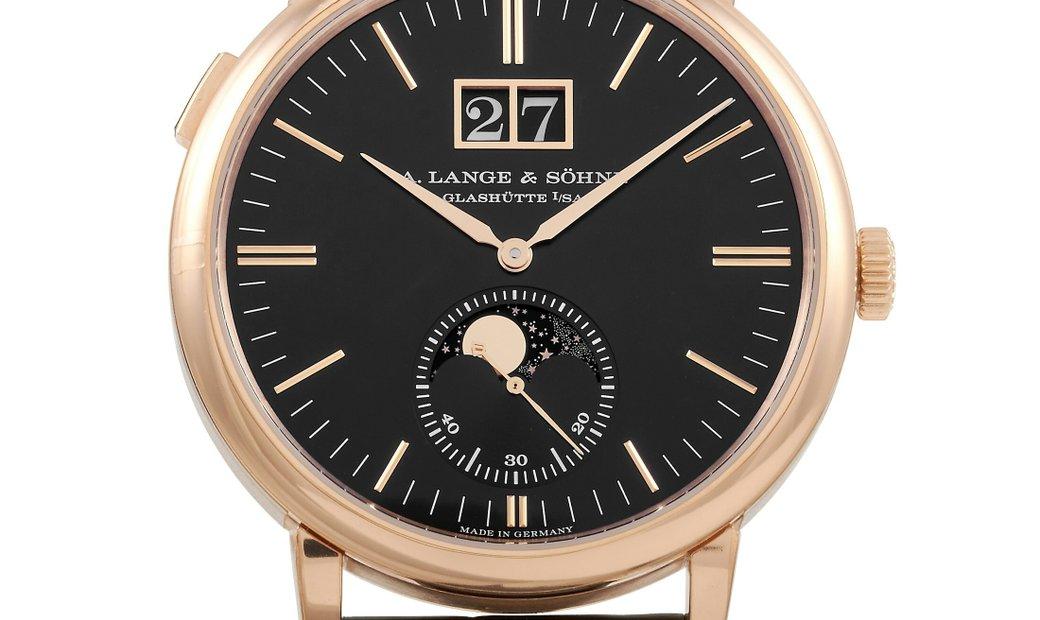 A. Lange & Sohne A. Lange & Sohne Saxonia Moon Phase 40mm Rose Gold Watch 384.031