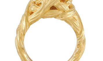 Angela Cummings Angela Cummings 18K Yellow Gold 3.50 ct Aquamarine Ring