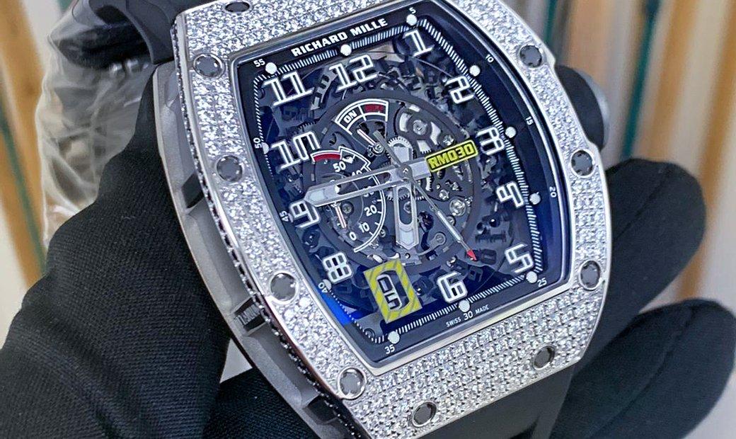 Richard Mille [NEW] RM 030 White Gold/Titanium Diamonds Watch