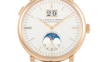 A. Lange & Sohne A. Lange & Sohne Saxonia Moon Phase 40mm Rose Gold Watch 384.032