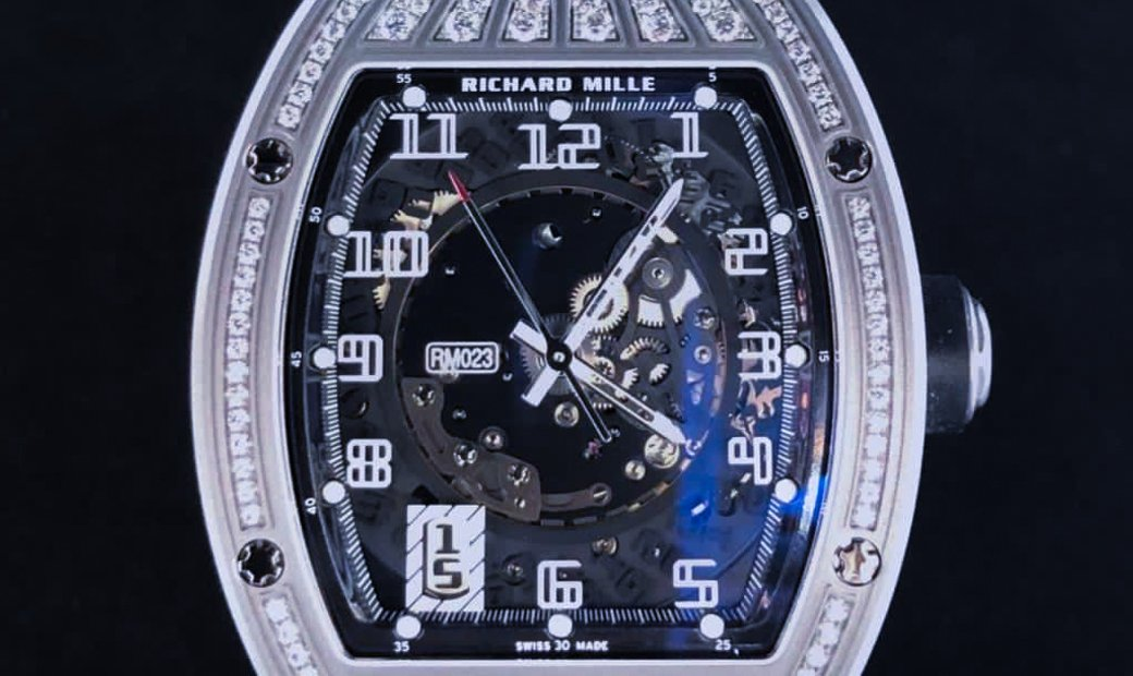 Richard Mille [NEW] RM 023 Titanium Med Set Diamonds