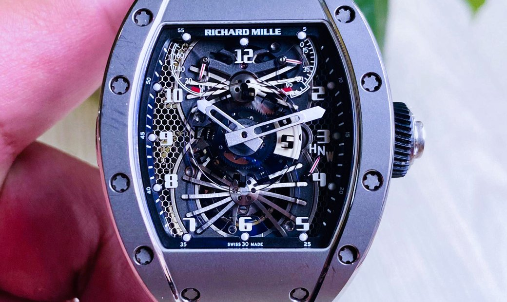 Richard Mille [2011 MINT] RM 022 AK Ti Tourbillon Dual Time Zone