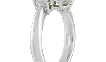 LB Exclusive LB Exclusive Platinum 0.51 ct Diamond and 3.60 ct Jade Ring