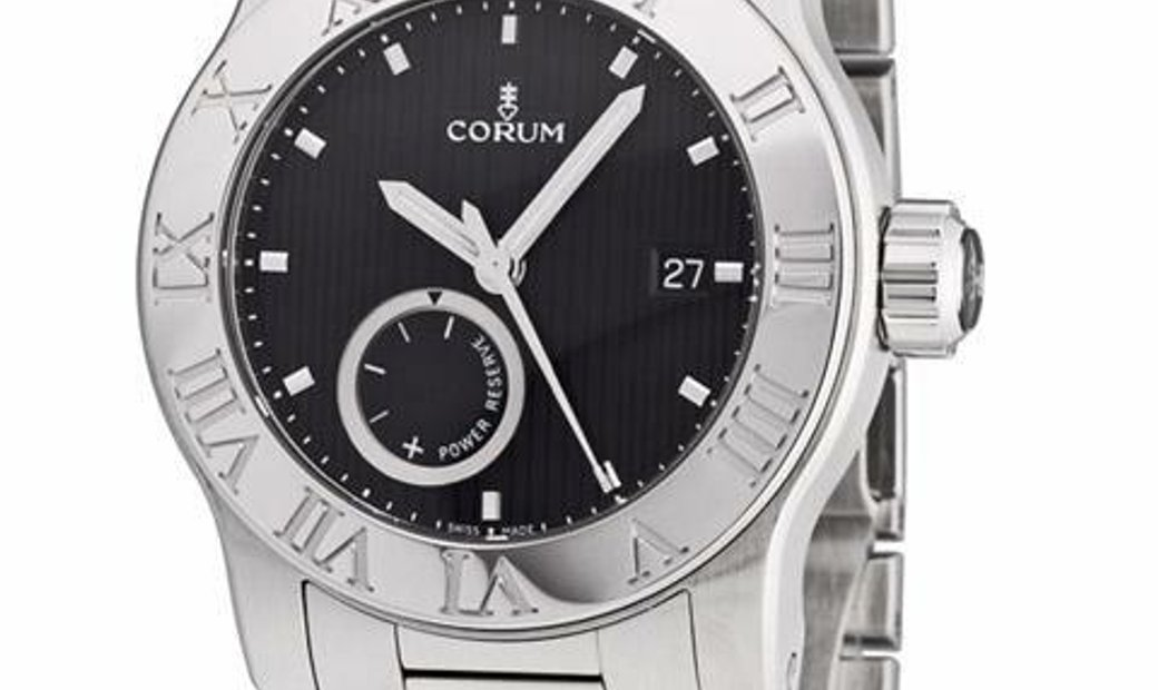 CORUM ROMVLVS AUTOMATIC BLACK DIAL STEEL 42MM 373.515.20/V810 BN75