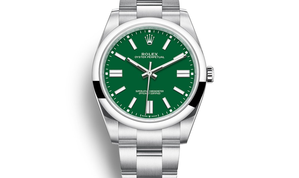 ROLEX OYSTER PERPETUAL 41 GREEN DIAL 124300-0005