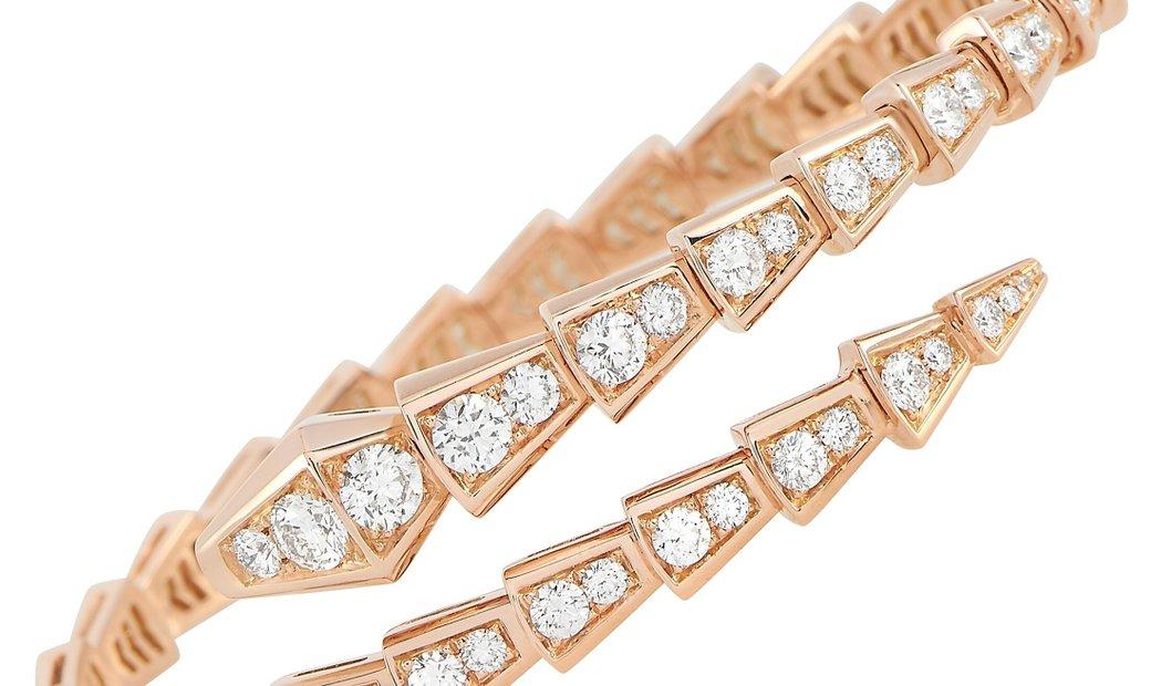 Bvlgari Bvlgari Serpenti 18K Rose Gold Diamond Bracelet