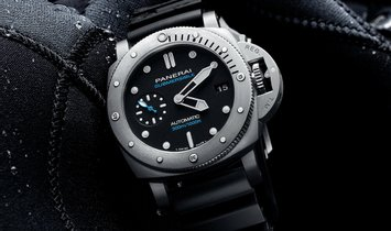 PANERAI SUBMERSIBLE AUTOMATIC BLACK DIAL OP7291 PAM00973