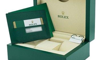 ROLEX OYSTER PERPETUAL DAY DATE II 41 WG 218349 SILVER DIAMOND SAPPHIRE BAGUETTE