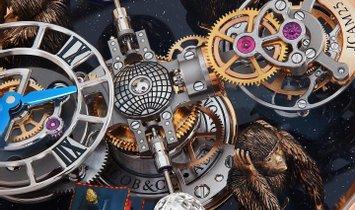 "Jacob & Co. 捷克豹 [NEW] Astronomia Tourbillon ""Three Wise Monkeys & Temple"" AT102.40.AB.UB.A"