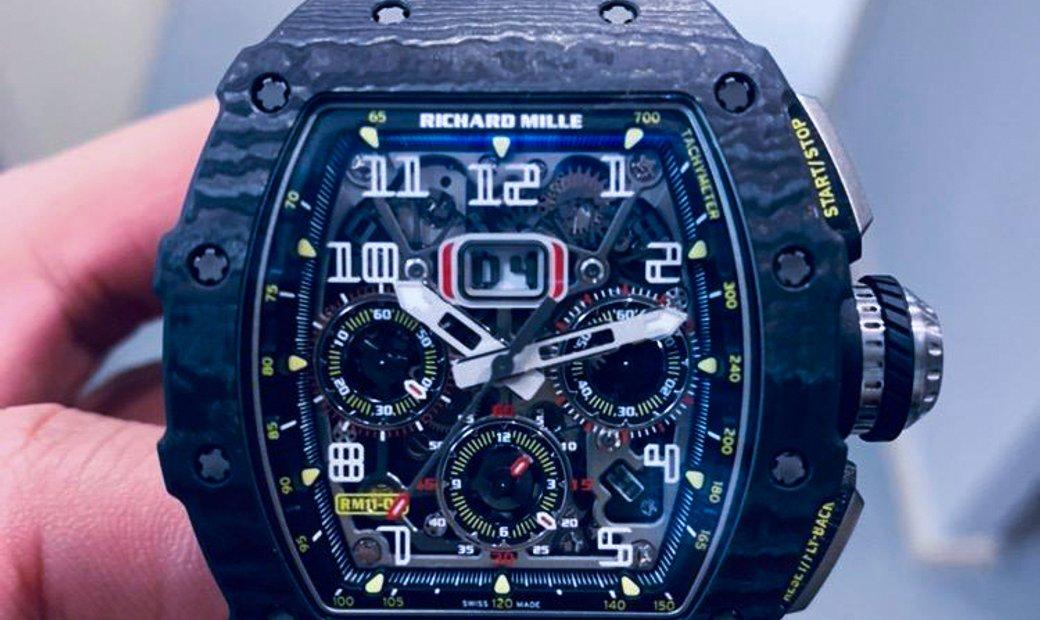 Richard Mille RM 11-03 Black Carbon NTPT Flyback Chronograph